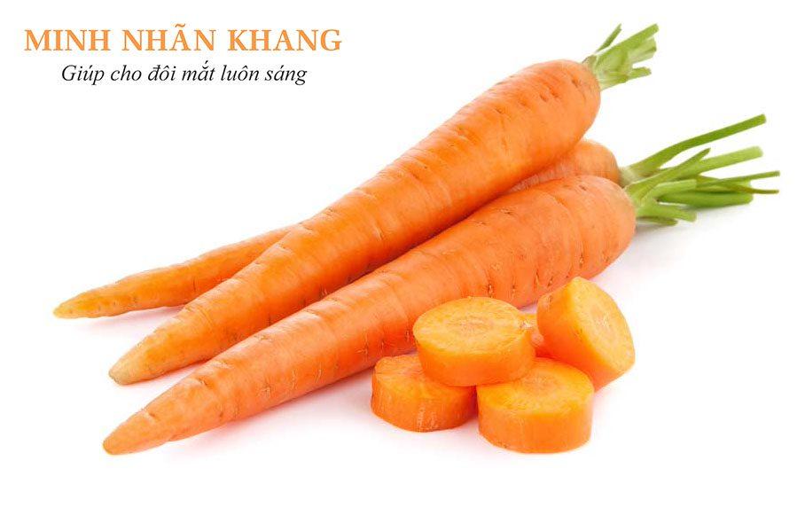 Chữa đục dịch kính bằng việc bổ sung thực phẩm tốt cho mắt như cà rốt
